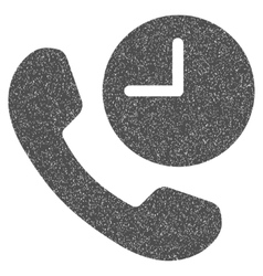 Phone time grainy texture icon vector