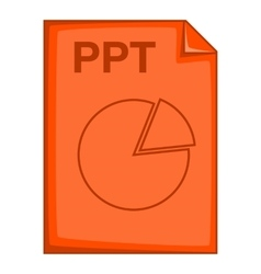 PPT file icon cartoon style vector image