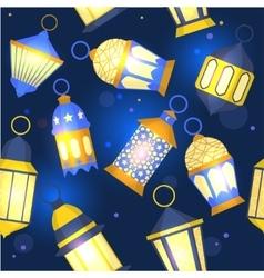 Ramadan Lanterns Background Pattern vector image vector image