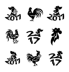 Rooster logo icons vector image