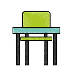 school chair and desk isolated icon vector image