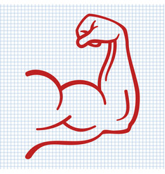 strong power muscle arms icon vector image