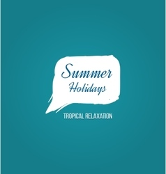 Summer holiday logo vector