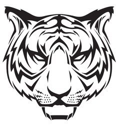 tattoo tigers head vector image