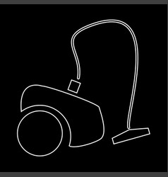 Vacuum cleaner the white path icon vector