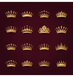 Victorian crowns vector