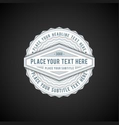 volumetric badge flat design vector image vector image