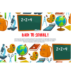 welcome back to school banner design vector image vector image