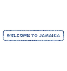 Welcome to jamaica textile stamp vector