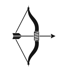 Bow and arrow icon simple style vector