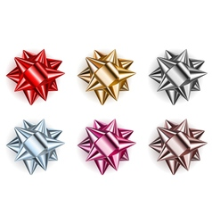Set of beautiful big bows vector