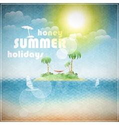 Honey summer holidays vector image