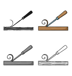 Chisel icon in cartoon style isolated on white vector