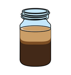 Coffee drink jar design vector