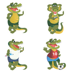 Crocodiles set vector