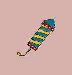 Circus carnival entertainment rocket in hatching vector