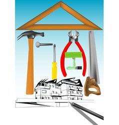 Renovation house vector