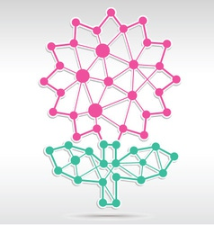 Flower network vector