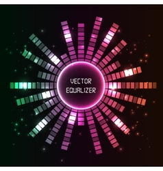 Circlel equalizer background vector