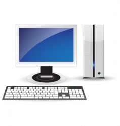 Pc desktop vector