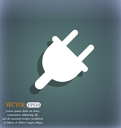 Electric plug power energy icon symbol on the vector