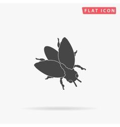 Insect simple flat icon vector