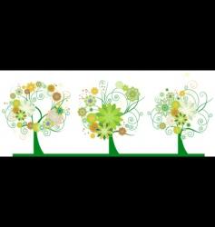 set floral background vector image