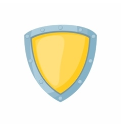Shield for defense icon cartoon style vector