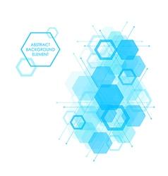 Hexagon background design element vector