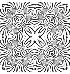 abstract monochrome fractal pattern background vector image vector image