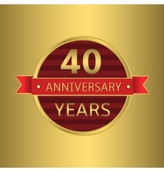 Anniversary 40 years vector image