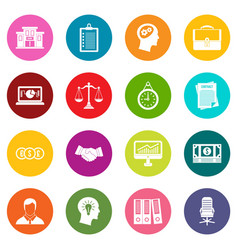 Banking icons many colors set vector