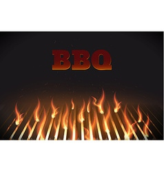 Bbq fire grille eps 10 vector