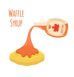Belgian chinese waffle - chocolate cream berry vector