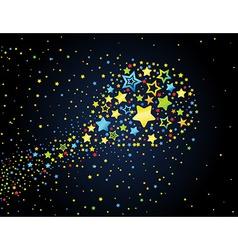 Cartoon star colored comet vector
