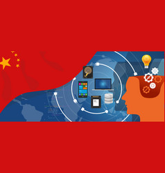 china it information technology digital vector image