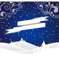 christmas snow hills vector image vector image