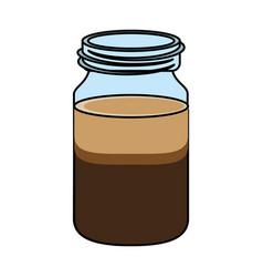 Coffee drink jar design vector