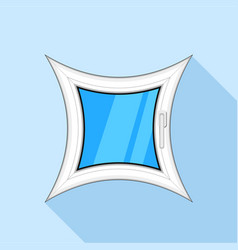 Curved square plastic window icon flat style vector