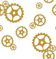 Golden gears pattern vector image