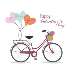 Great card for valentines day vector