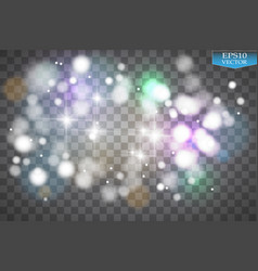 Lights on transparent background white glitter vector