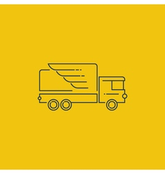 Logistics icon fast truck delivery logo concept vector image vector image