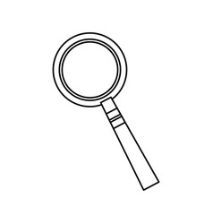 magnifier glass zoom search image vector image