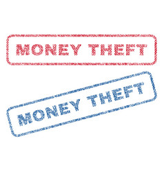 Money theft textile stamps vector
