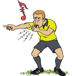 referee whistling vector image vector image