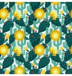 seamless pattern from cactuses vector image vector image