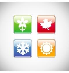 season icons vector image