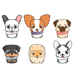Set of cartoon puppies vector image vector image