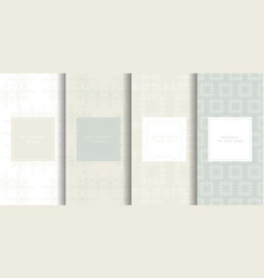 Set of seamless patterns in light grey color vector